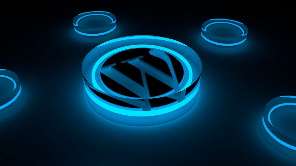 wordpress, logo, glow